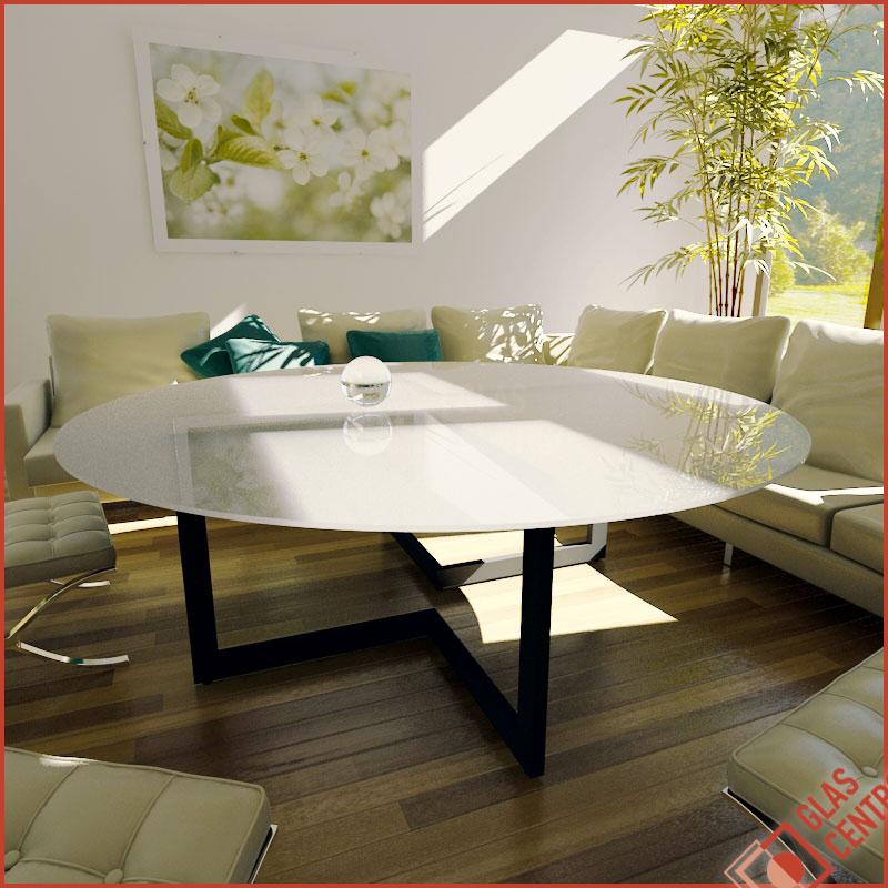 glasplatte tischplatte couchtisch rund 100cm. Black Bedroom Furniture Sets. Home Design Ideas