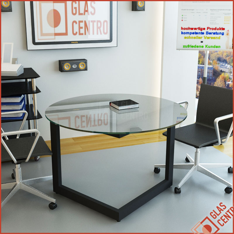 glasplatte tischplatte couchtisch rund 90cm. Black Bedroom Furniture Sets. Home Design Ideas